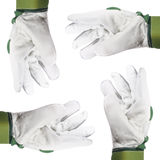Hände mit Handschuhen, Ausschnitt Lizenzfreie Stockfotografie