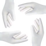 Hände mit Handschuhen, Ausschnitt Lizenzfreies Stockfoto