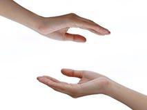 Hände mit leerem Raum Stockfotografie