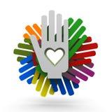Hände mit Liebe Stockfoto