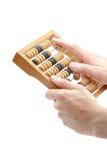 Hände mit Rechenmaschine Lizenzfreies Stockbild