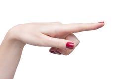 Hände mit roter Maniküre stockfotografie