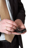 Hände mit smartphone Lizenzfreie Stockfotografie