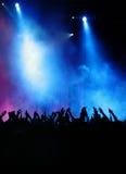 Hände, Nebel und Leuchte Lizenzfreie Stockfotografie