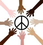 Hände um Friedenssymbol Lizenzfreie Stockbilder