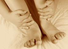 Hände und Füße Lizenzfreies Stockbild