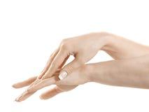Hände und Finger Stockbild