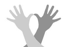 Hände und Gesten. Stockfotografie
