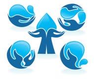Hände und Wasser Lizenzfreie Stockfotos