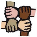 Hände verbanden (Vektor) Stockfotografie