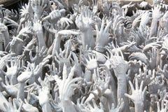 Hände von der Hölle Stockbild