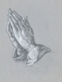 Hände - Zeichnung Lizenzfreie Stockfotos