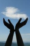 Hände zum Himmel Lizenzfreie Stockfotografie