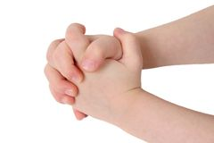 Hände zusammen Stockbild