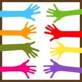 Hände zusammen Stockbilder