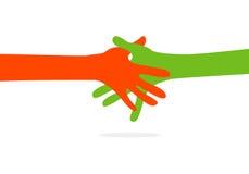 Hände zusammen Stockfotos
