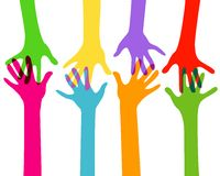 Hände zusammen Lizenzfreies Stockbild