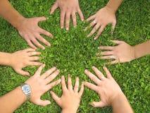 Hände zusammen Stockfotografie
