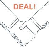 Händedruck-Abkommen vektor abbildung