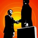 Händedruck-Abkommen lizenzfreie abbildung