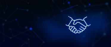 Händedruck, Abkommen, Fachleute, Mannschaftsspieler, Vertragsvereinbarung, Geschäftsantragannahme, Partnerschaft, Erfolg, Teamwor vektor abbildung