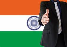 Händedruck auf Inder Stockbild