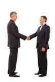 Händedruck getrennt über Weiß Lizenzfreies Stockfoto