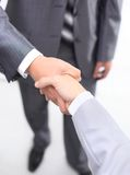 Händedruck getrennt auf Weiß Lizenzfreie Stockfotos