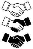Händedruck-Ikone für Geschäft und Finanzierung - vector Illustration stockbild