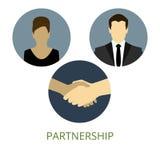 Händedruck und Partnerschaft Lizenzfreies Stockbild