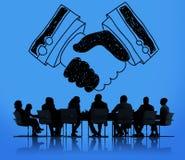 Händedruck-Vereinbarungs-Partnerschafts-Abkommen-Vertrauens-Willkommens-Konzept lizenzfreie abbildung