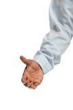 Händedruckgeste vom schwarzen Geschäftsmann lizenzfreie stockfotografie
