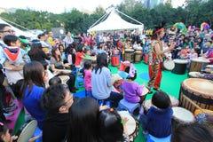 Händelse av konster i parkera Mardi Gras i Hong Kong Arkivbild