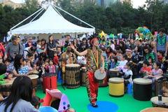 Händelse av konster i parkera Mardi Gras i Hong Kong Arkivbilder
