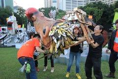 Händelse av konster i parkera Mardi Gras i Hong Kong Royaltyfri Bild