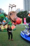 Händelse av konster i parkera Mardi Gras i Hong Kong Royaltyfri Fotografi