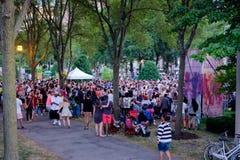 Händelse för Chicago sommardans Arkivfoto