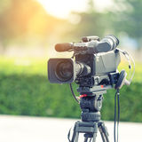 Händelse för publicitet för inspelning för televisionkamera royaltyfri fotografi