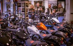 Händelse Harley Davidson 'för öppet hus 'i den Italien Sportster modellen royaltyfria foton