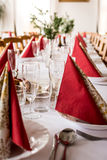 Händelse som äter middag tabellen Royaltyfria Foton