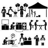 Händelsen för berömpartifestivalen servar Clipart Arkivbild
