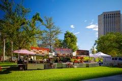 Händelsen som sköter om på i stadens centrum Miami Bayfront, parkerar celebra för nya år Royaltyfria Foton
