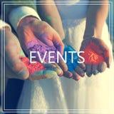händelser Händer med många färger Royaltyfria Foton
