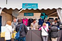 händelser olympic london förbereder provet Royaltyfri Bild