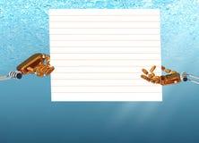 Händer av den undervattens- roboten stock illustrationer