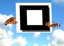 Händer av roboten i himlen royaltyfria bilder