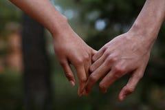 Händer för vänparholding Royaltyfri Foto