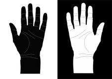 händer gömma i handflatan uppvisning Royaltyfri Fotografi
