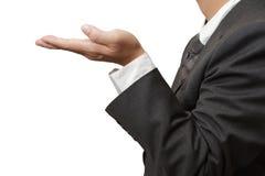 Händer i erbjudande gest Arkivfoto