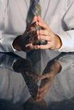 Händer i ett möte Fotografering för Bildbyråer